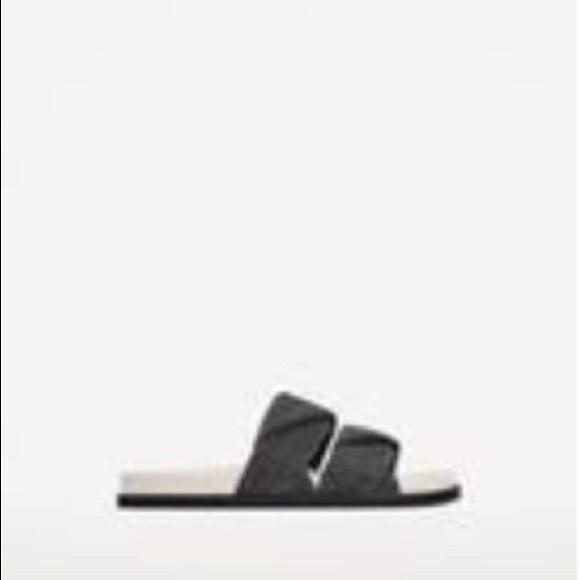 Zara Shiny Slide Sandal